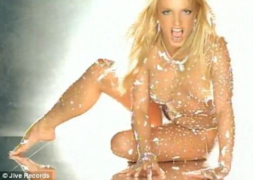britney spears glitter body suit toxic video