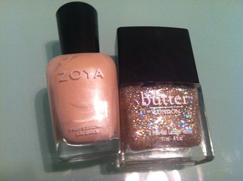 zoya minka and butter london tart with a heart
