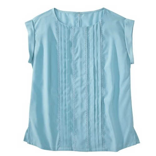 jason wu for target blue cap-sleeve blouse