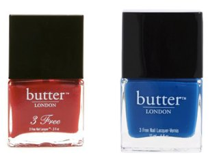 crimson and blue nail polish