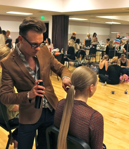 sleek hair backstage at fashion for a cause kansas city