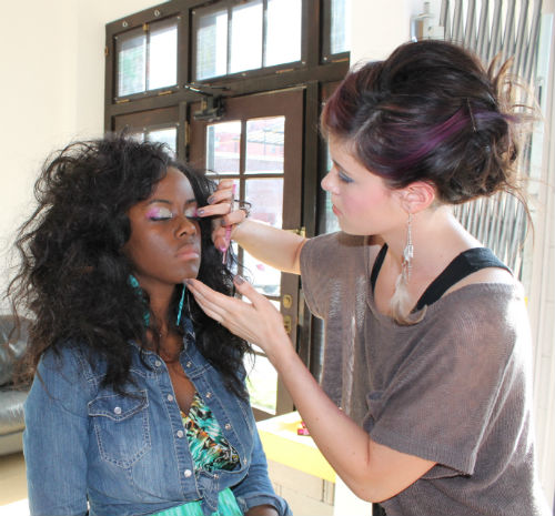 whitney manney spring summer fashion show kansas city makeup felicia gilliland