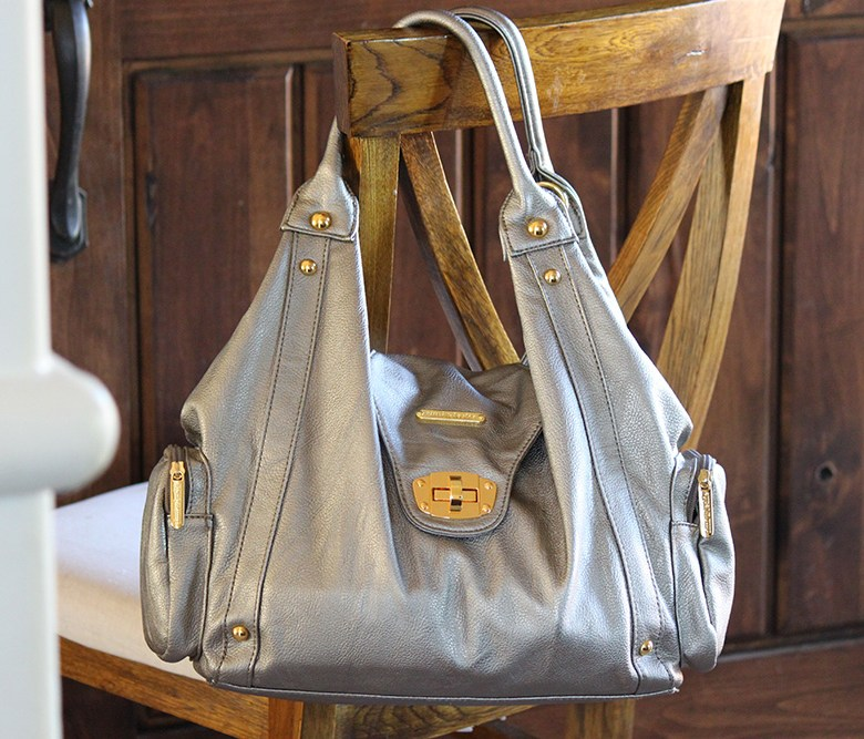 timi & leslie annette diaper bag in pewter