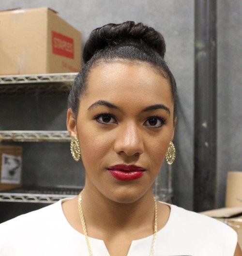 hilari kansas city fashion week model backstage beauty
