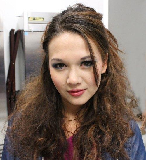 tina model kansas city fashion week backstage beauty