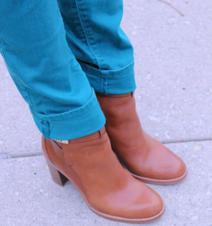 tan leather coach booties