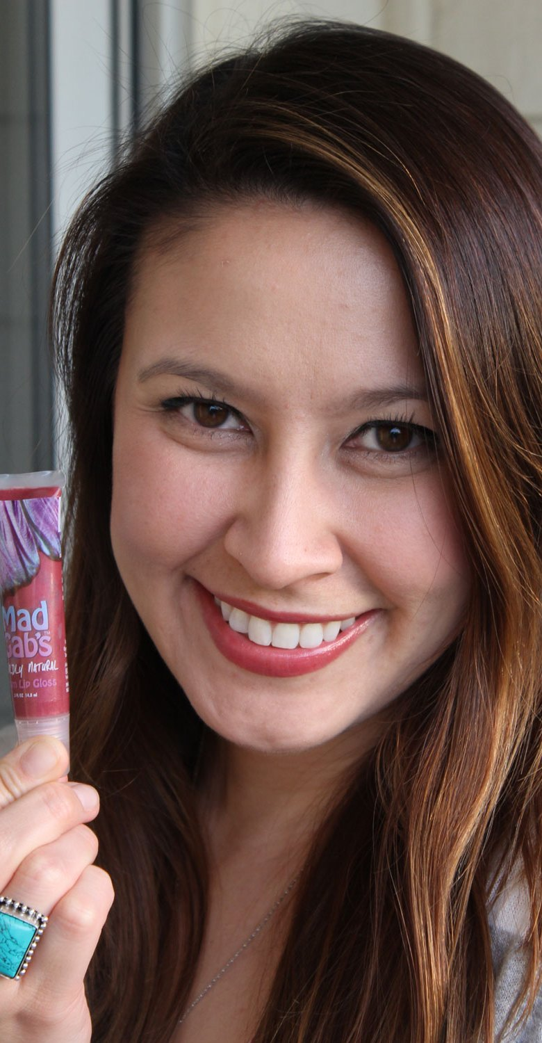 mad gab's wildly natural lip gloss in plum