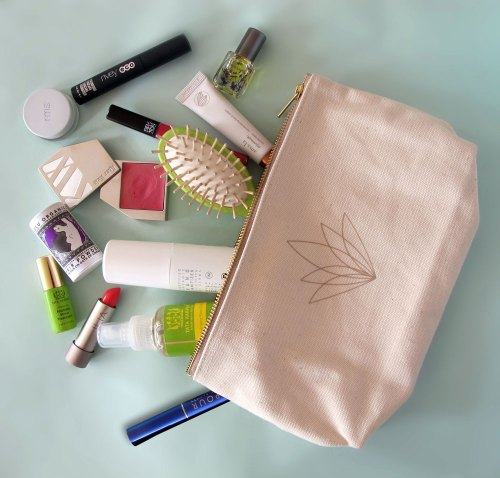 inside tata harper's natural beauty bag