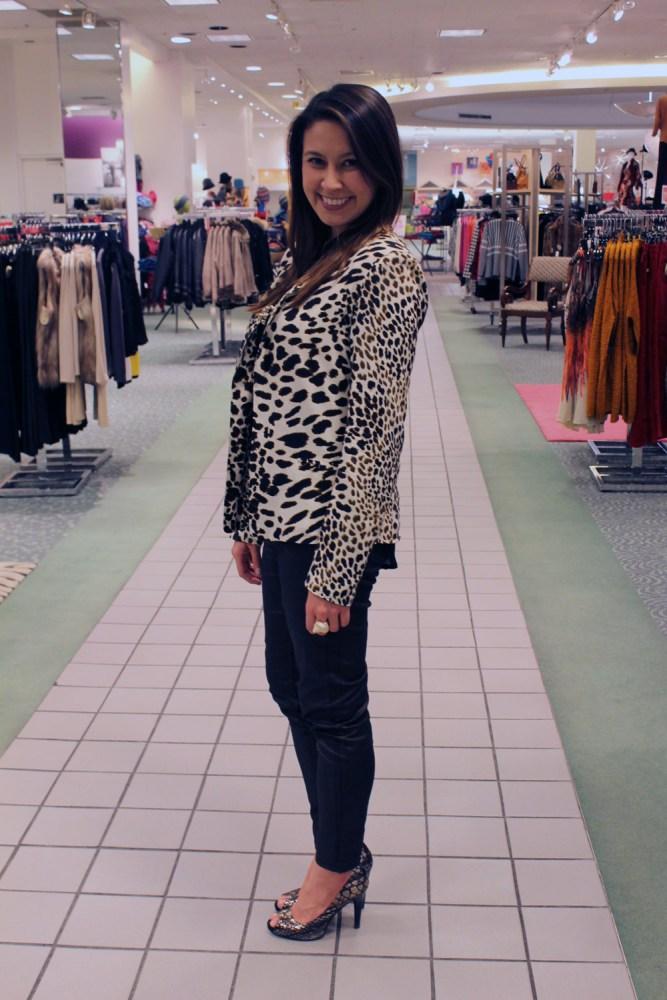 kimberlyloc leopard print jacket and glazed-jeans