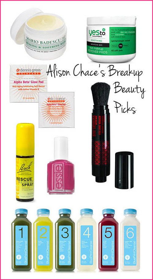 alison chace breakup beauty picks