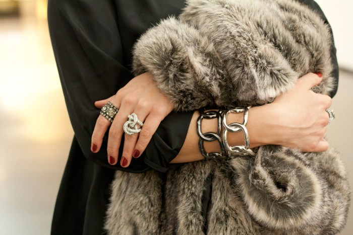 """kimberlyloc wears charming charlie rings, saks fifth avenue off fifth bracelets and zoya nail polish in """"kym"""""""