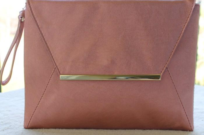 charming charlie rose gold envelope clutch