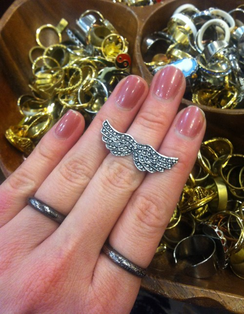 wing ring at brooklyn charm in williamsburg brooklyn new york