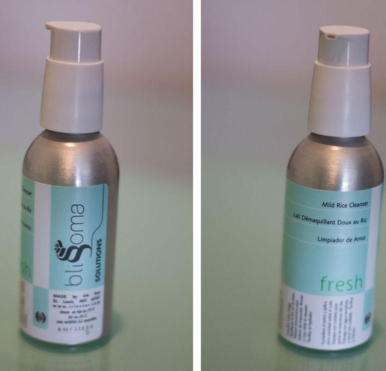 blissoma solutions fresh mild rice cleanser irie star