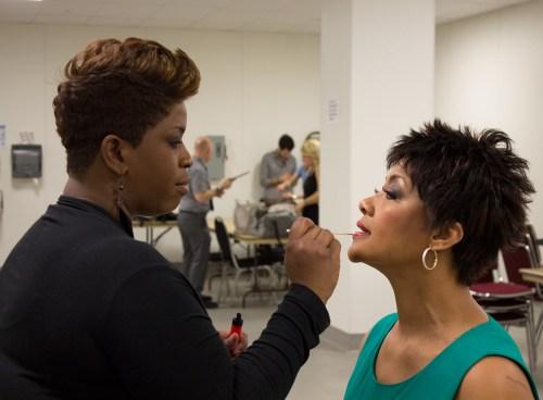 backstage makeup angela hagenbach and latrese kabuya fashion for a cause kansas city