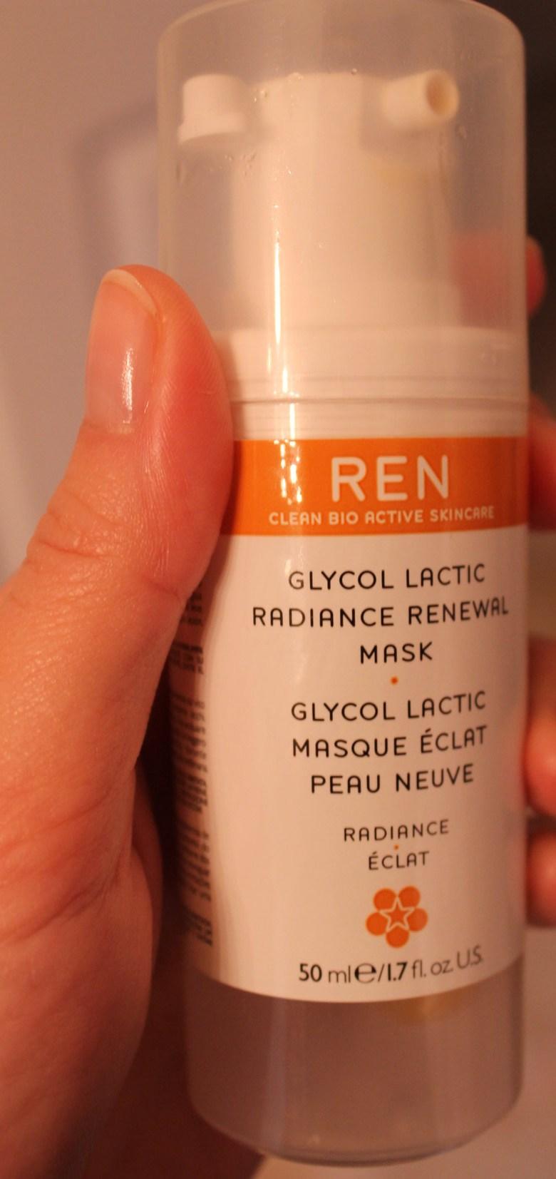 ren glycolic lactic radiance renewal mask