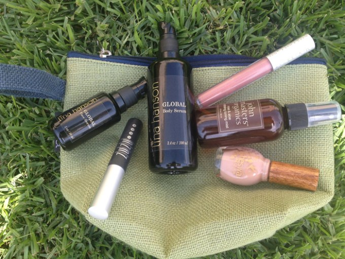 inside lina hanson's makeup bag
