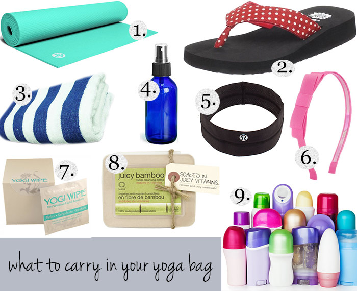 what to carry in your yoga bag