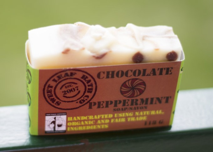 sweet leaf bath co chocolate peppermint soap