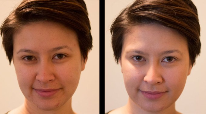 kimberlyloc without makeup and wearing mvo everyday coverage spf 30 medium tint