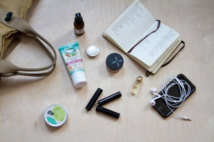 see what's inside meow meow tweet co-founder Tara Pelletier's green beauty bag