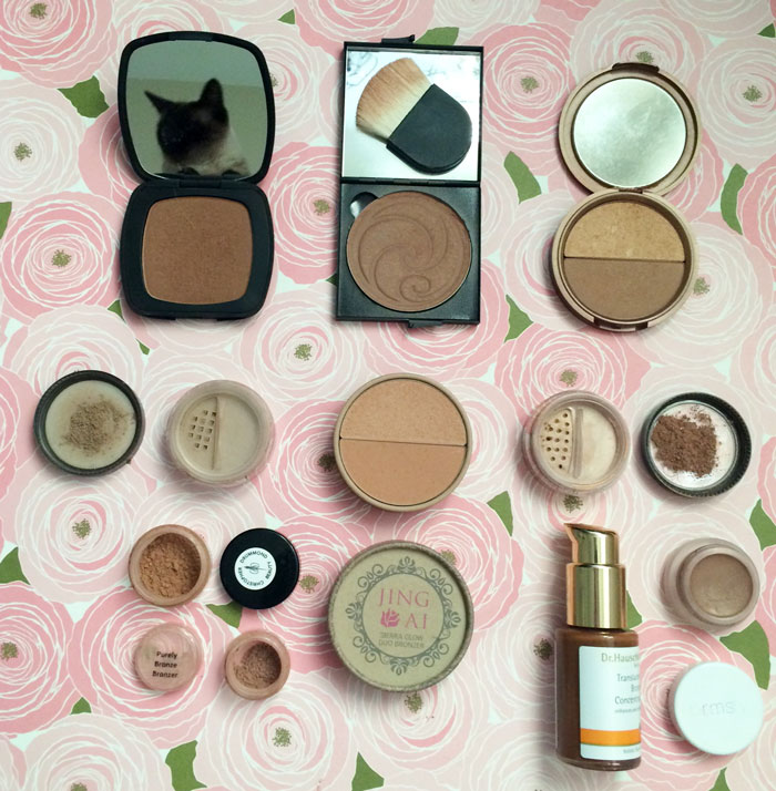 natural and nontoxic bronzers and contouring powders