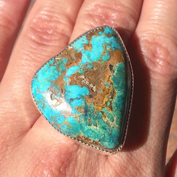 native american turquoise ring santa fe