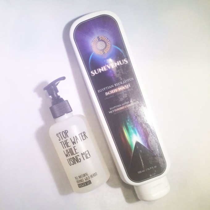 kimberlyloc's current beauty routine: body washes