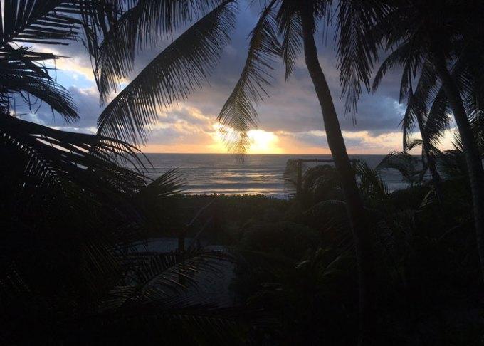 sunrise over tulum beach