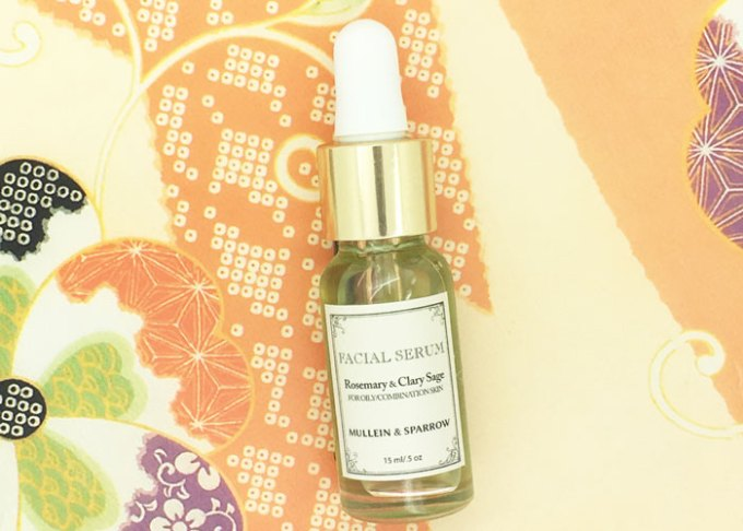 mullein & sparrow rosemary & clary sage face oil