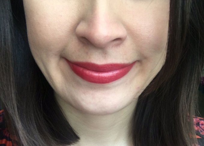 tarte fever natural red lipstick