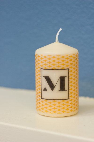 diy: how to customize a candle with tissue paper