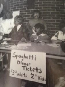 Spaghetti Dinner Sale Liberty 1989