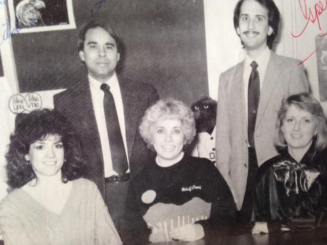 Liberty Elementary's 5th grade teachers, 1988-89. Back Row: Mr. Wolfe and Mr. Beltzner. Front Row: Mrs. Huddleston, Mrs. Rice, Mrs. Block