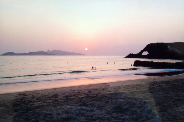 Sunset of Elephant Bay, Aden.