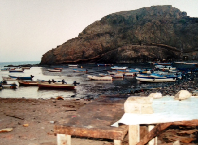 Fishing boats in Aden.