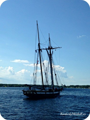 Schooner in the Water - Ready to Come About - kimberlymitchell.us