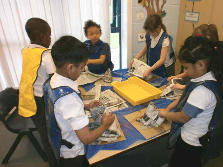 Class 3 created our own volcanoes,,,,