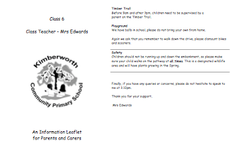 Parent information leaflets