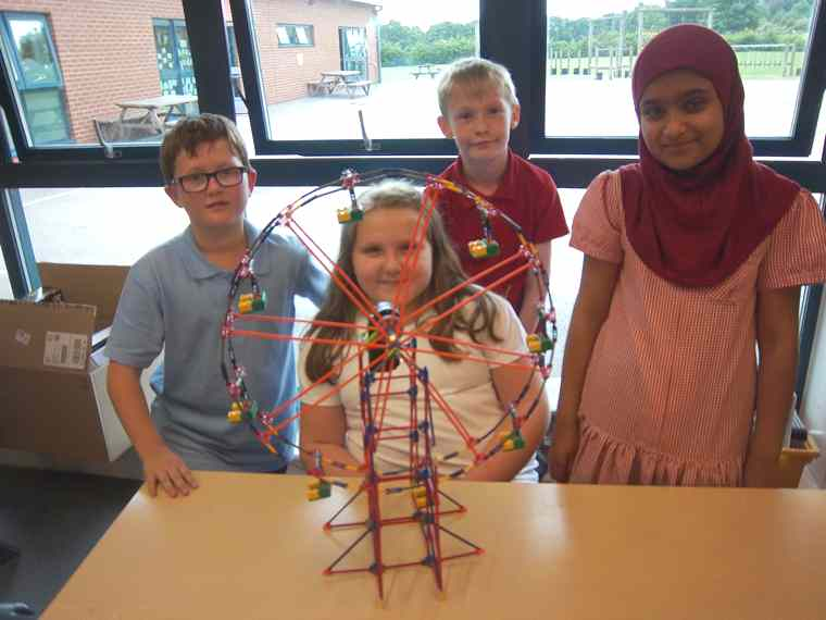 Class 5 had a fantastic construction day.