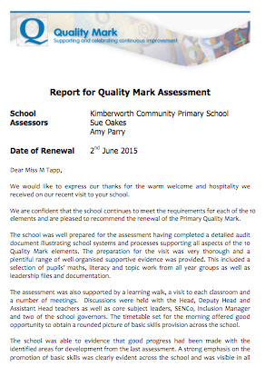 Report for Quality Mark Assessment