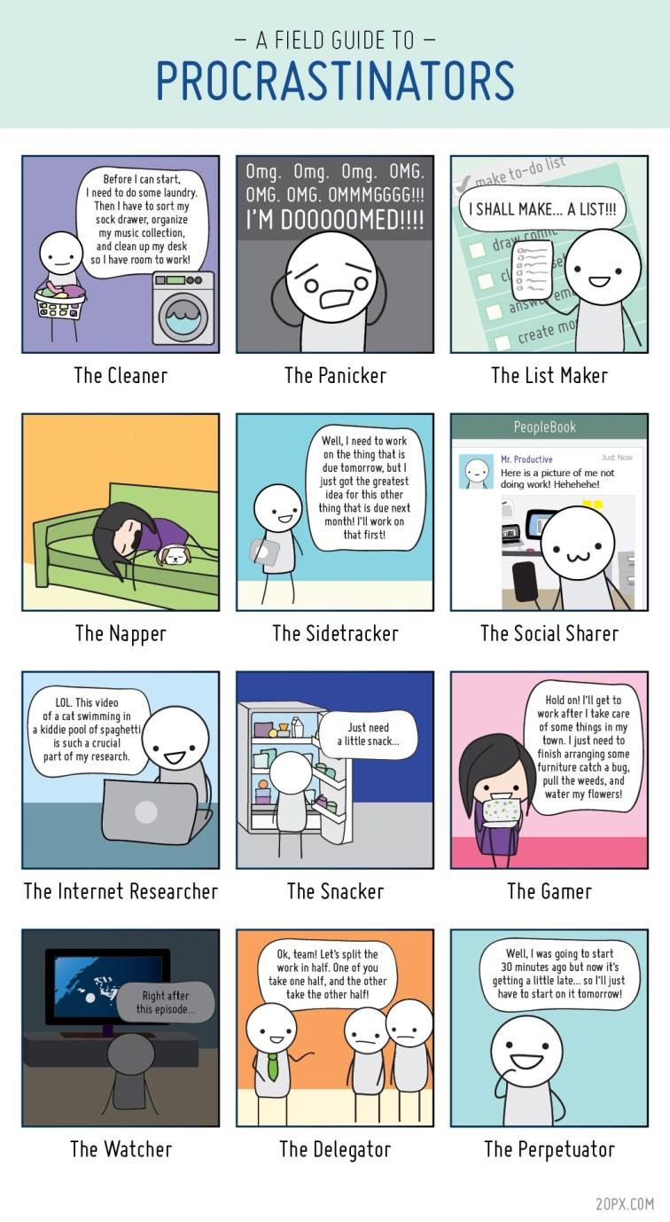 A Field Guide to Procrastinators