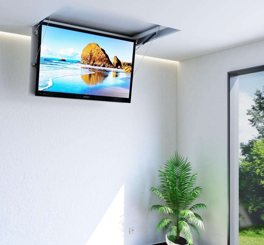 support plafond motorise pour ecran 55