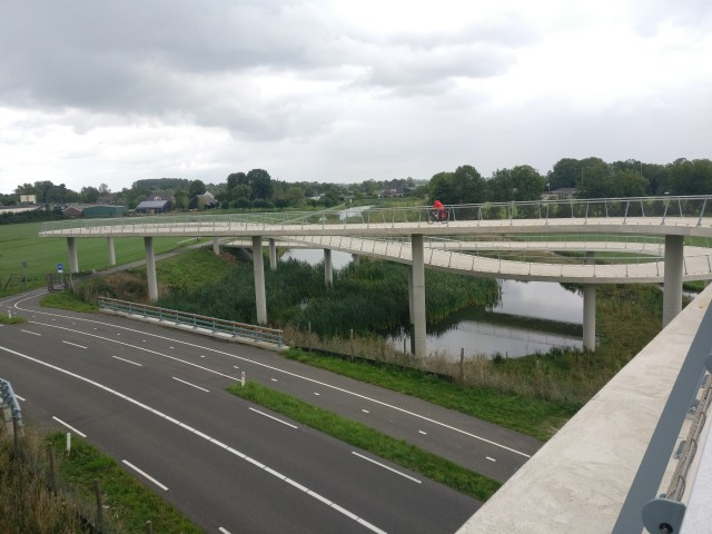 The new Nigtevecht bicycle bridge's sinuous curves. To EuroBike and Back: a continental journey