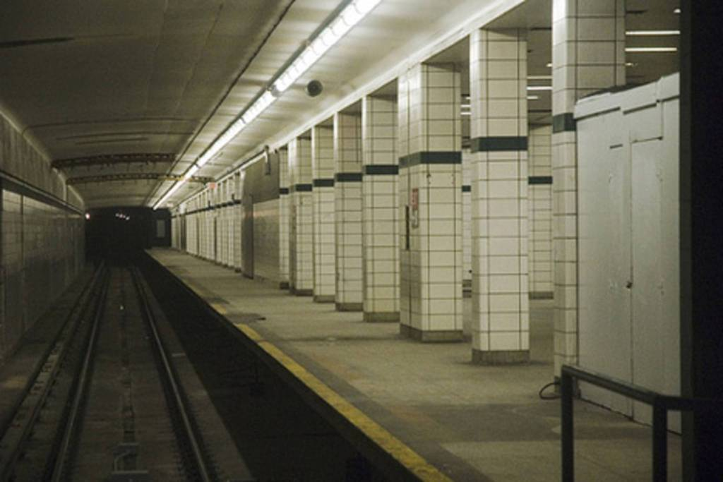 The TTC has a few reports, one of an eerie lady who haunts Lower Bay with black holes where her eyes should be. Another is the tunnel between York Mills and Sheppard where workers have heard wailing and battle, where Huron and Iroquois tribes once fought.