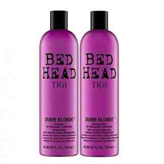 Tigi Duo Pack Bed Head Dumb Blonde 750ml Shampoo and Conditioner