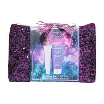 Style & Grace Glitz & Glam Galaxy Sequin Bag Gift Set contents