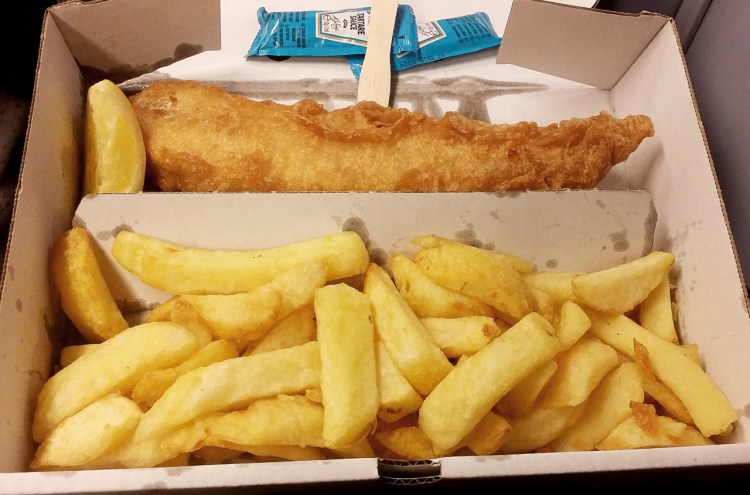 gluten free fish and chips from Olley's Fish Experience in Brixton/Herne Hill, London