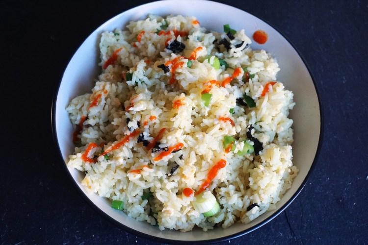 Quick lazy egg fried rice - kimi eats gluten free
