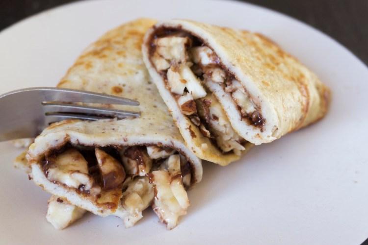 Thin gluten free pancakes - www.kimieatsglutenfree.com